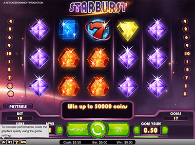 Starburst pokie game
