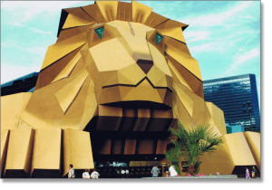 MGM Grand Lion Mouth Entrance