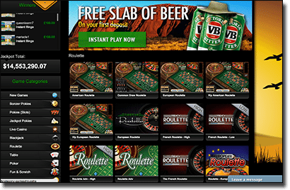 Play European, French Roulette and more at G'Day Casino